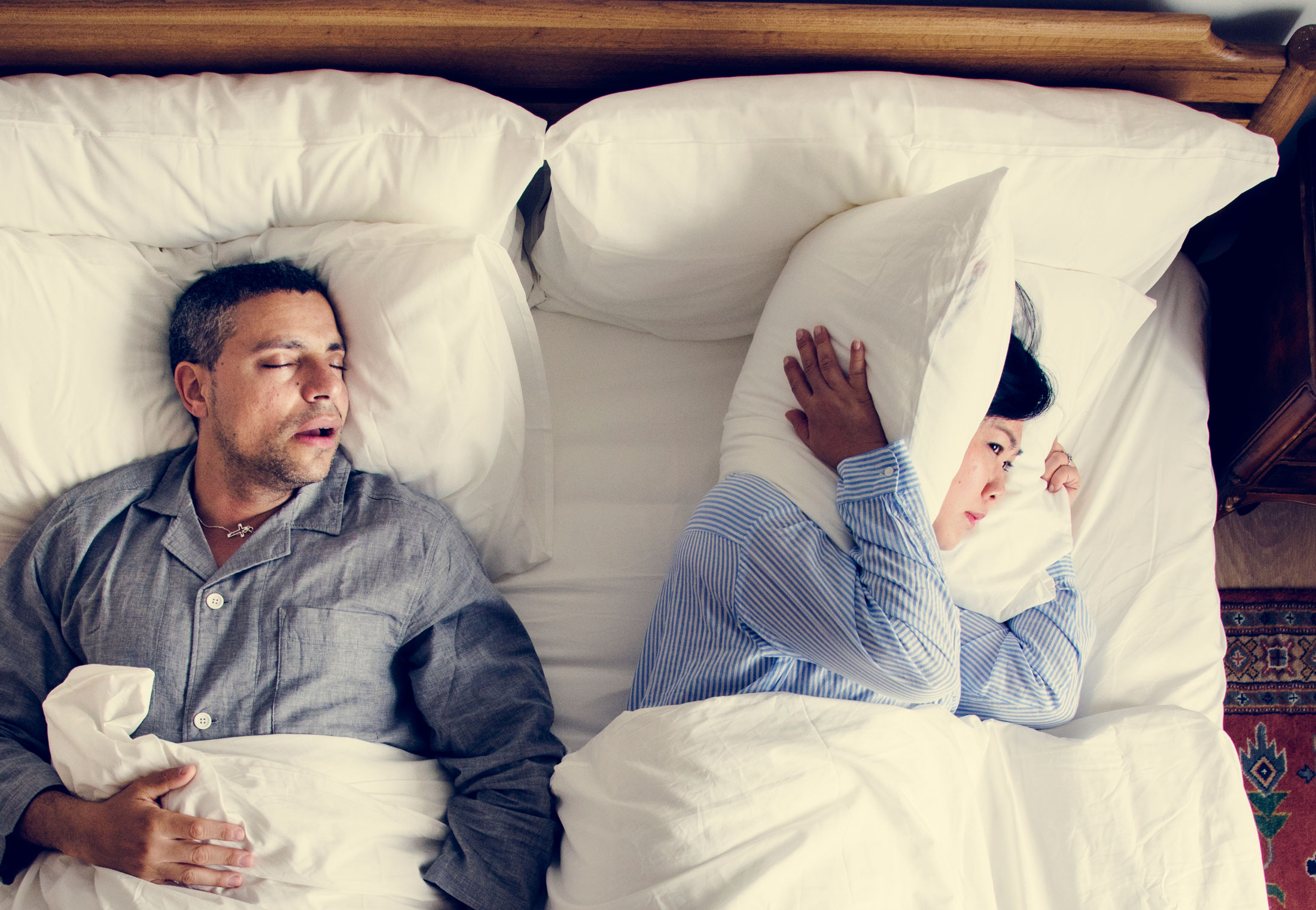 snoring can be a sign of sleep apnea, which can sometimes be treated by a dental appliance