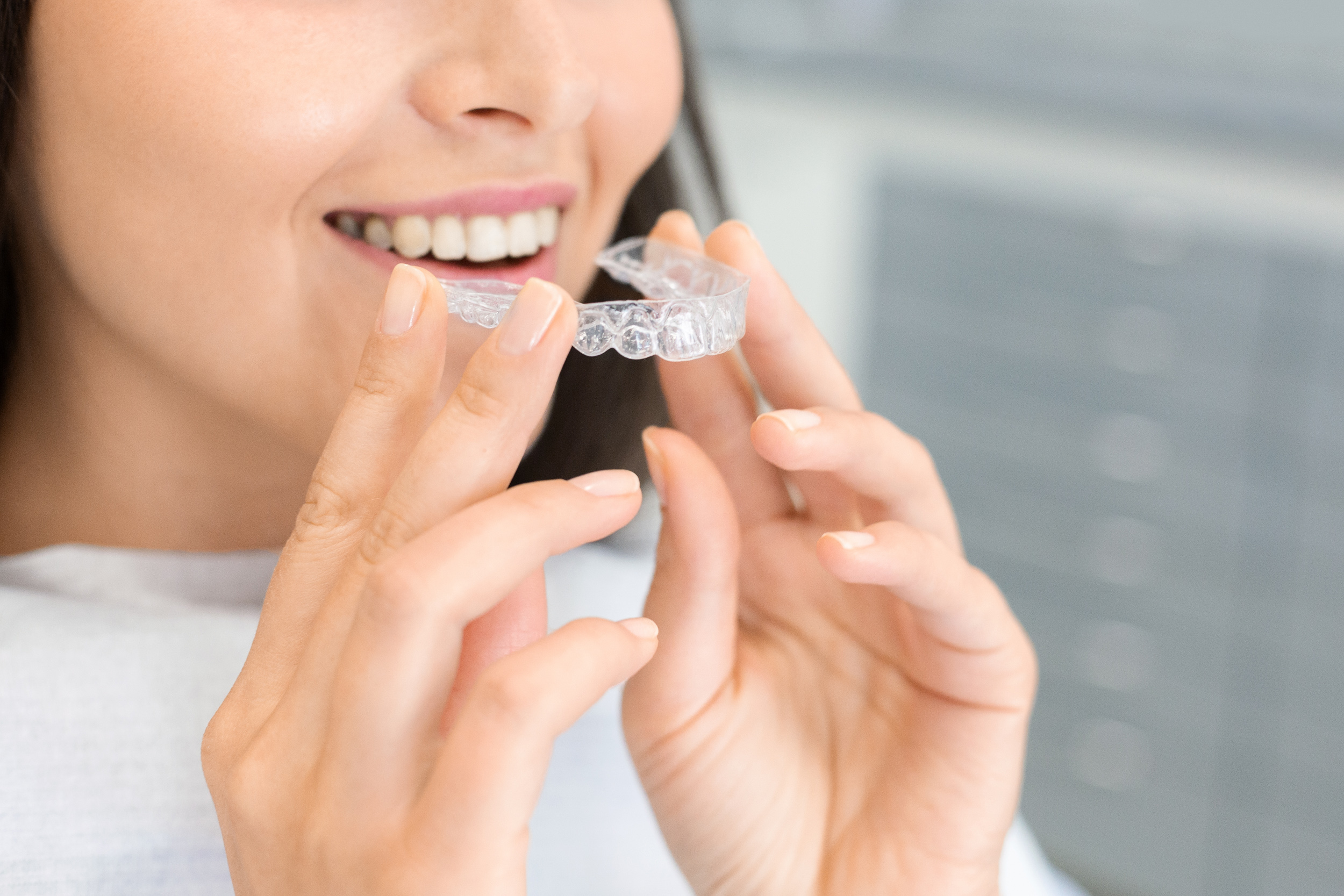 Invisalign invisible braces available at Moss Family Dentistry
